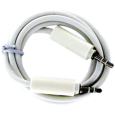 Cablu audio auxiliar (aux) jack tata-tata 3.5 mm alb