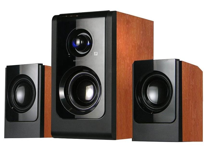 Boxe Serioux 2.1 SoundBoost HT2100C 16W RMS negru+lemn cires
