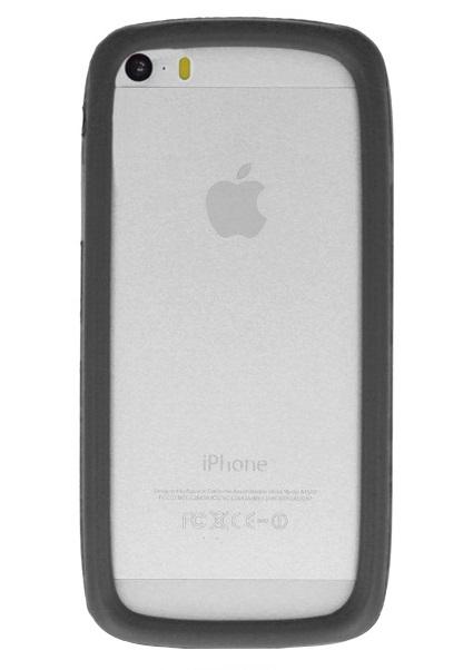 Bumper rotund GreenGo marimea L (10 cm) universal silicon negru pentru telefoane