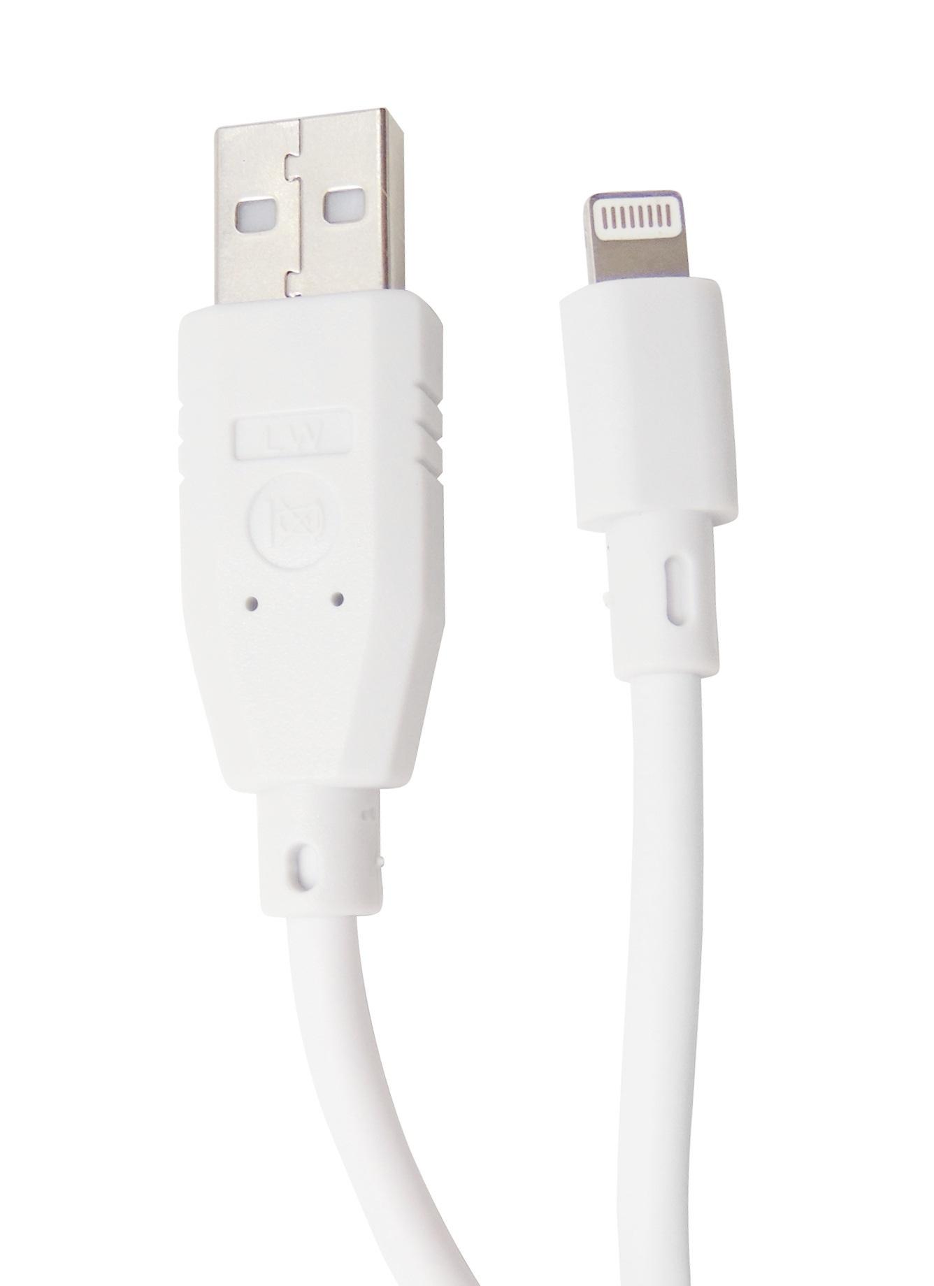 Cablu date si incarcare HighSpeed Lightning - USB 2.0 alb, 1,5 m lungime, pentru Apple iPhone, iPad, iPad