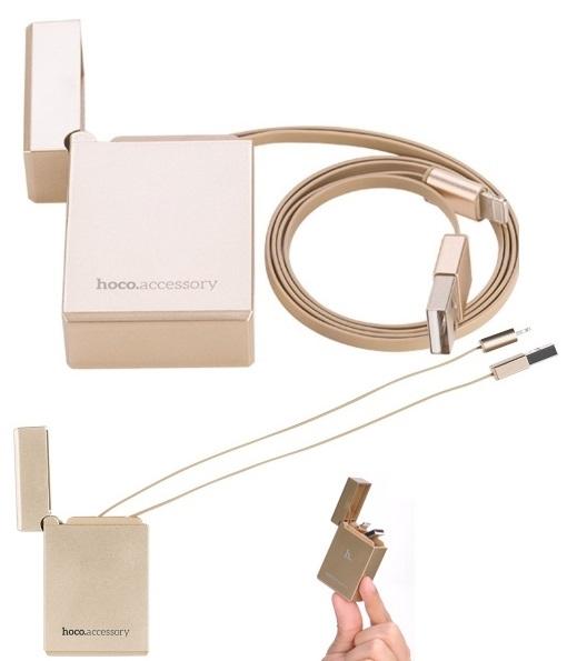 Cablu Date Si Incarcare Hoco Upl17 Apple Lightning Auriu