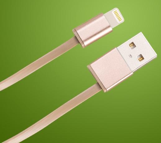 Cablu Date Si Incarcare Hoco Upl17 Apple Lightning Roz Auriu