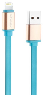 Cablu De Date Mymax Metalic Lighting Albastru Deschis Pentru Dispozitive Apple