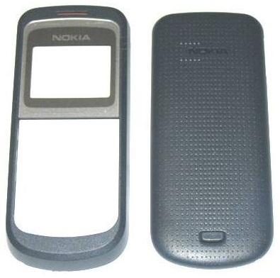 Carcasa telefon Nokia 1203 fata + capac baterie gri inchis