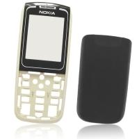 Carcasa telefon Nokia 1650 fata + spate neagra bej