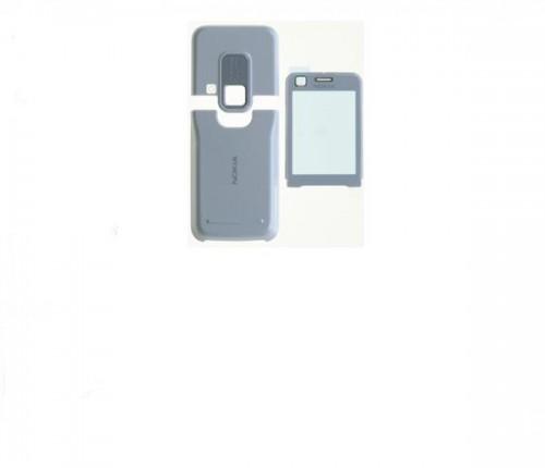 Carcasa telefon Nokia 6120c 6121c set 3 piese alb
