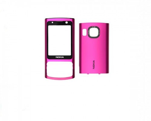 Carcasa telefon Nokia 6700s fata + spate roz