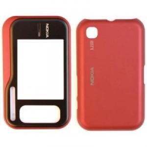 Carcasa telefon Nokia 6760 fata + capac baterie rosu