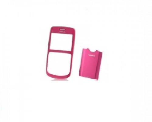 Carcasa telefon Nokia C3 fata + capac baterie roz
