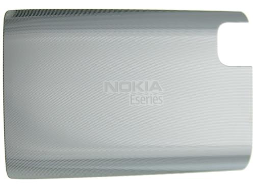 Carcasa Telefon Nokia E75 Capac Baterie White Stee