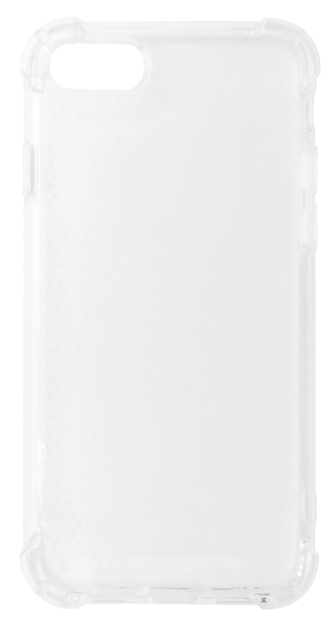 Husa tip capac spate Lensun cu colturi intarite plastic + silicon transparenta pentru Apple iPhone 7 / 8