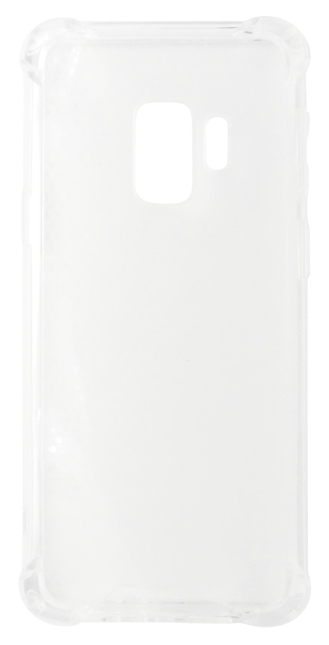 Husa tip capac spate Lensun cu colturi intarite plastic + silicon transparenta pentru Samsung Galaxy S9
