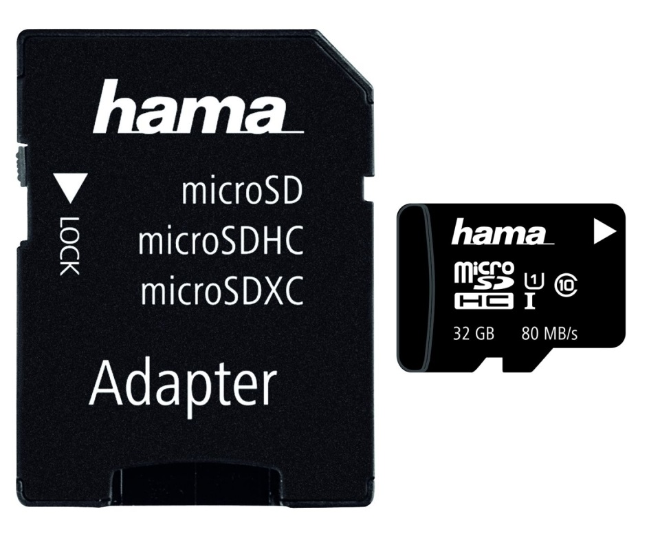 Card memorie Hama microSDHC 32GB clasa 10 + adaptor SD