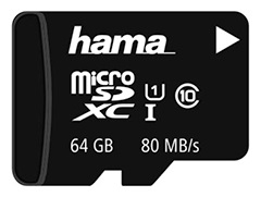Card memorie Hama microSDHC 64GB UHS clasa 10 + adaptor SD