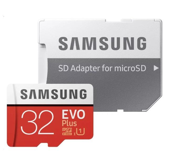 Card memorie Samsung microSDHC Evo+ 2017 MB-MC32GA/EU 32 GB clasa 10 UHS-1 + adaptor