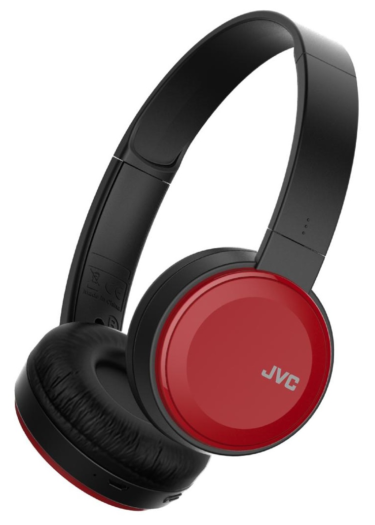 Casti Bluetooth On-Ear JVC HA-S30BT-R-E cu microfon incorporat negru + rosu
