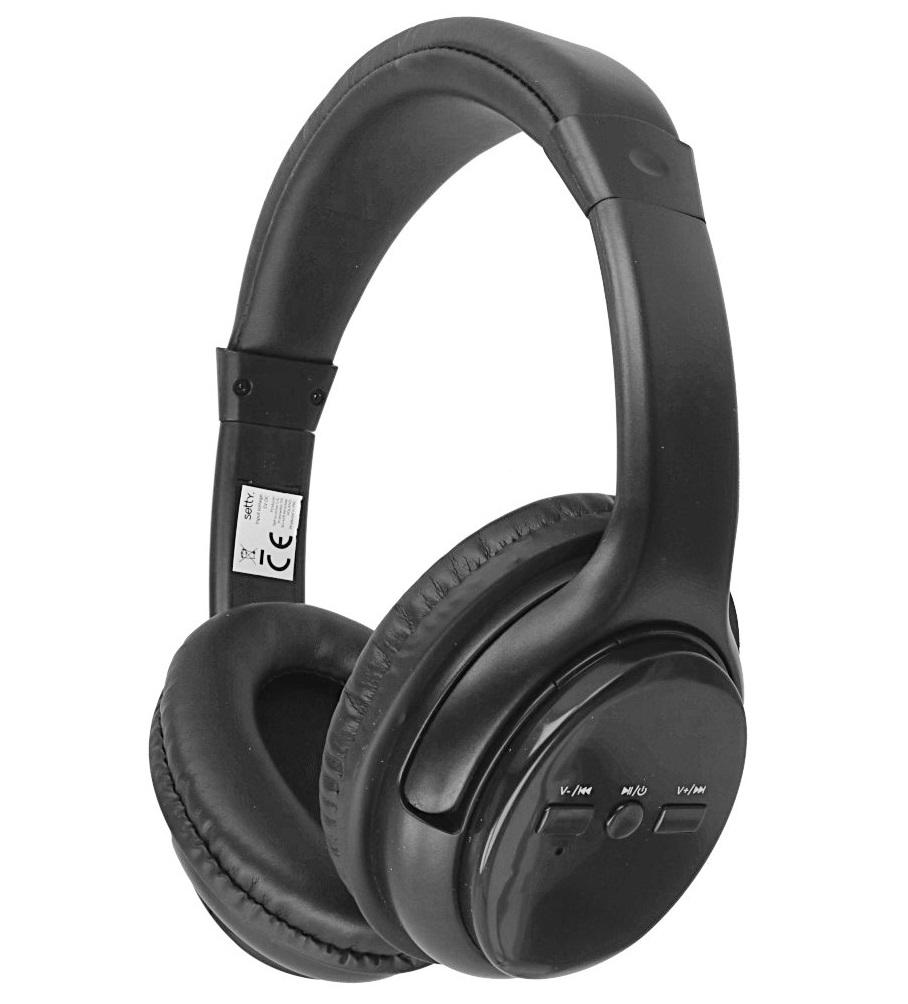 Casti Wireless Setty Over Head, microfon incorporat, negre