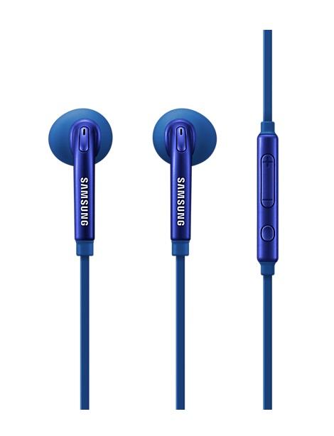 Handsfree (casti) Samsung EO-EG920BLEGWW stereo cu microfon, albastru pentru dispozitive cu conector de 3,5 mm blister
