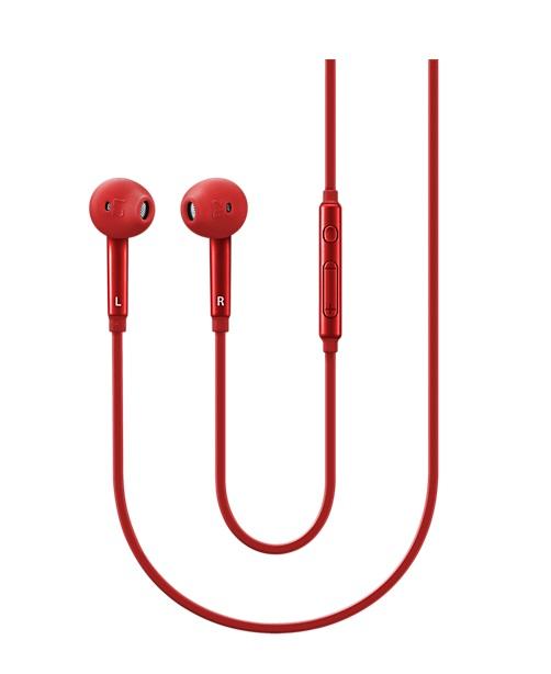 Handsfree (casti) Samsung EO-EG920BREGWW stereo cu microfon, rosu pentru dispozitive cu conector de 3,5 mm blister