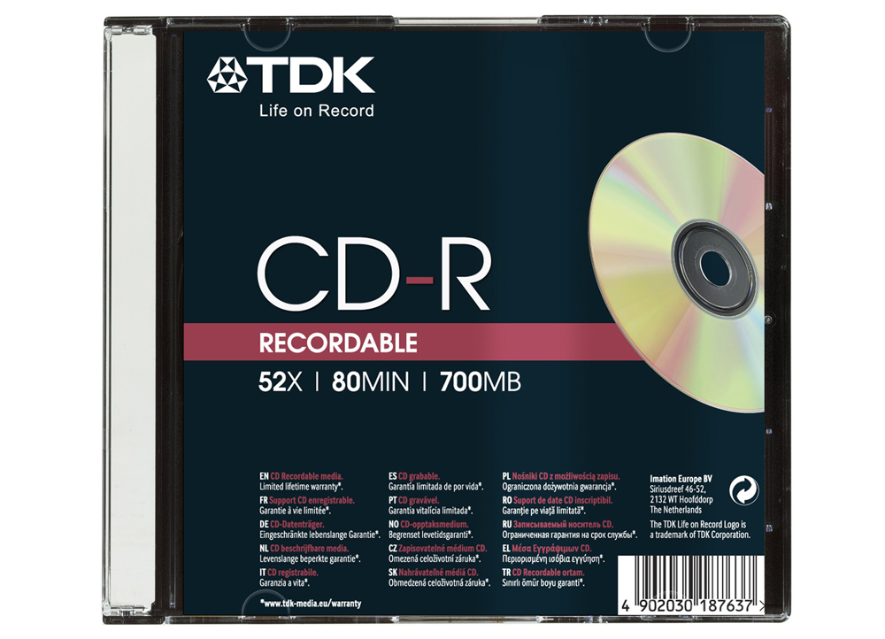Cd-r Tdk 52x Slim Jewel Case