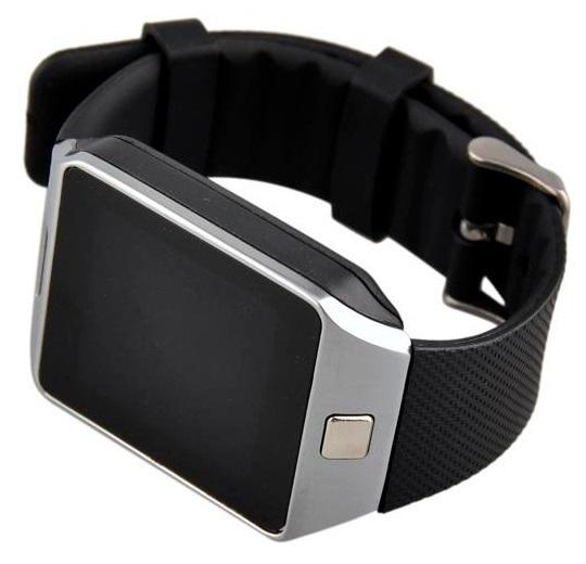 Smartwatch Cronos Dice cu SIM Silver (argintiu) curea neagra