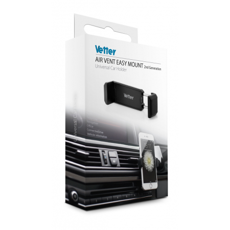 Suport Auto Universal Vetter Air Vent Easy Mount 2nd Gen Negru