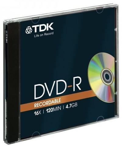 Dvd-r Tdk 16x 4 7gb Jewel Case Bulk
