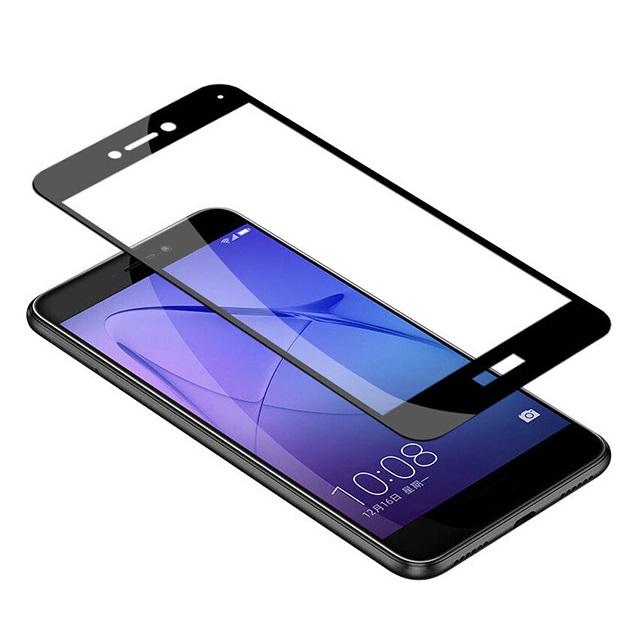 Folie sticla protectie ecran Full Face 3D margini negre pentru Huawei P8 Lite 2017 (P9 Lite 2017)