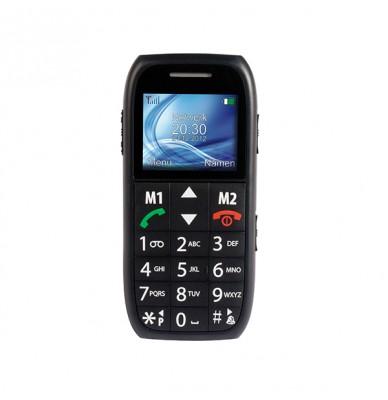 Fysic FM-7500 negru cu butoane mari si alarma pentru seniori