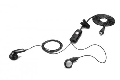 Handsfree (casti) Htc HS S200 negru pentru HTC Touch 3G (Jade), Touch Diamond2, Touch Pro, Snap, Touch Pro2, Tattoo si toate dispozitivele HTC cu conexiuni ExtUSB