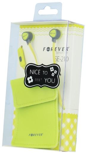 Handsfree (casti) Forever Se-210 Galben Pentru Smartphone  Tableta Si Laptop