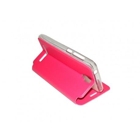 Husa Tip Carte Cu Stand Roz Pentru Telefon Allview