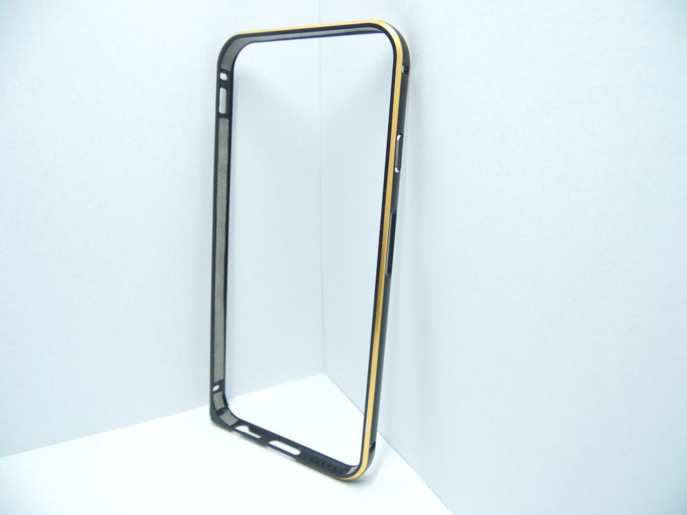 Husa Bumper Metal Neagra Pentru Telefon Apple Ipho