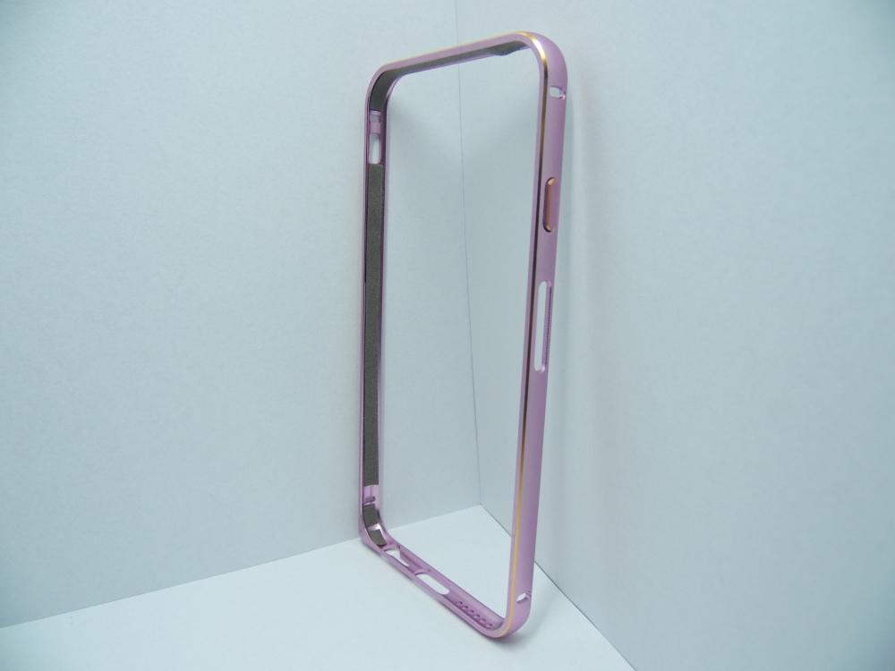 Husa Bumper Metal Roz Pentru Telefon Apple Iphone