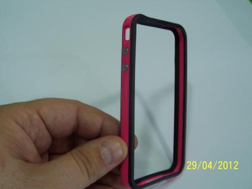 Husa Bumper Negru Cu Roz Pentru Telefon Apple Ipho