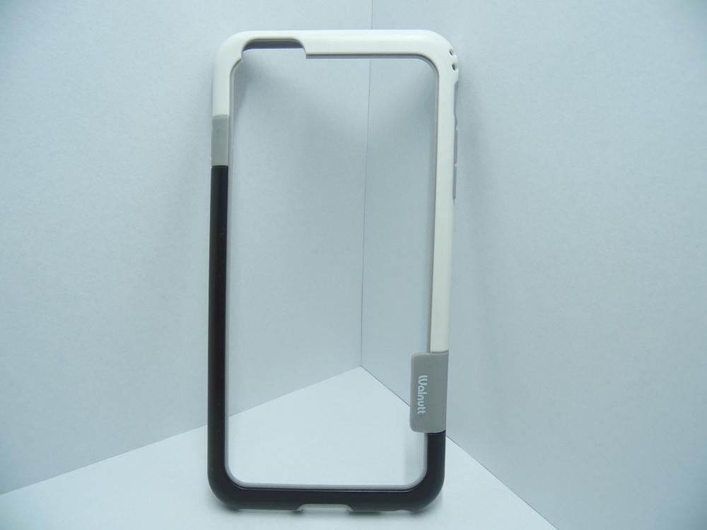 Husa Bumper Plastic Negru+alb Pentru Telefon Apple