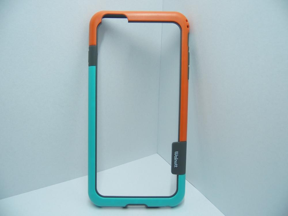 Husa Bumper Plastic Portocaliu+albastru Pentru Tel