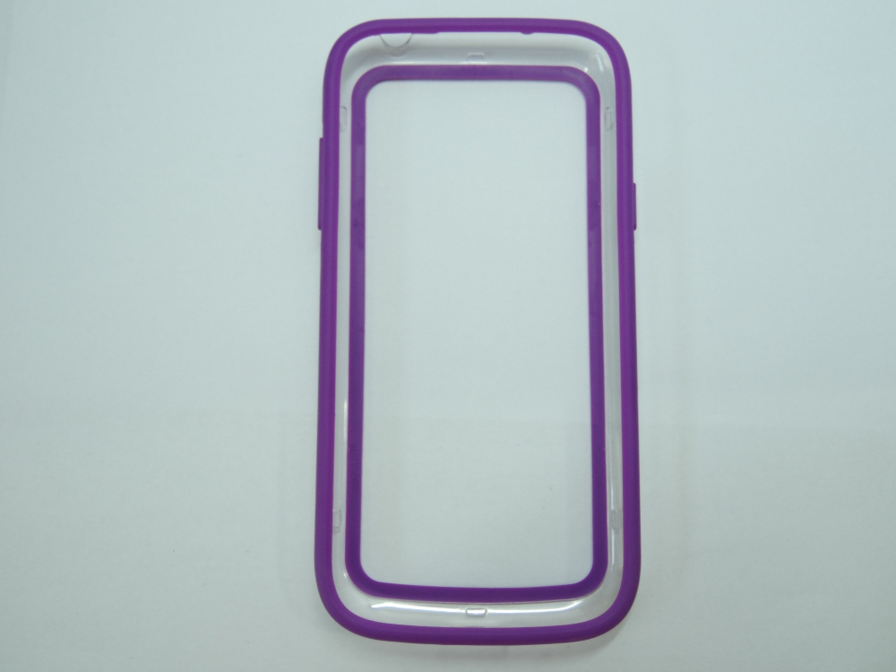 Husa Bumper Plastic Transparent + Silicon Mov Pent
