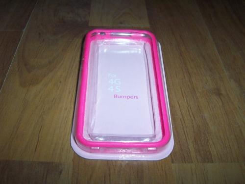 Husa Bumper Roz Transparent Pentru Telefon Apple I