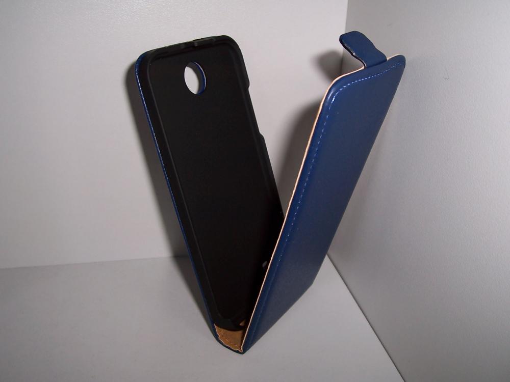 Husa Flip Albastra (interior Bej) Pentru Telefon H