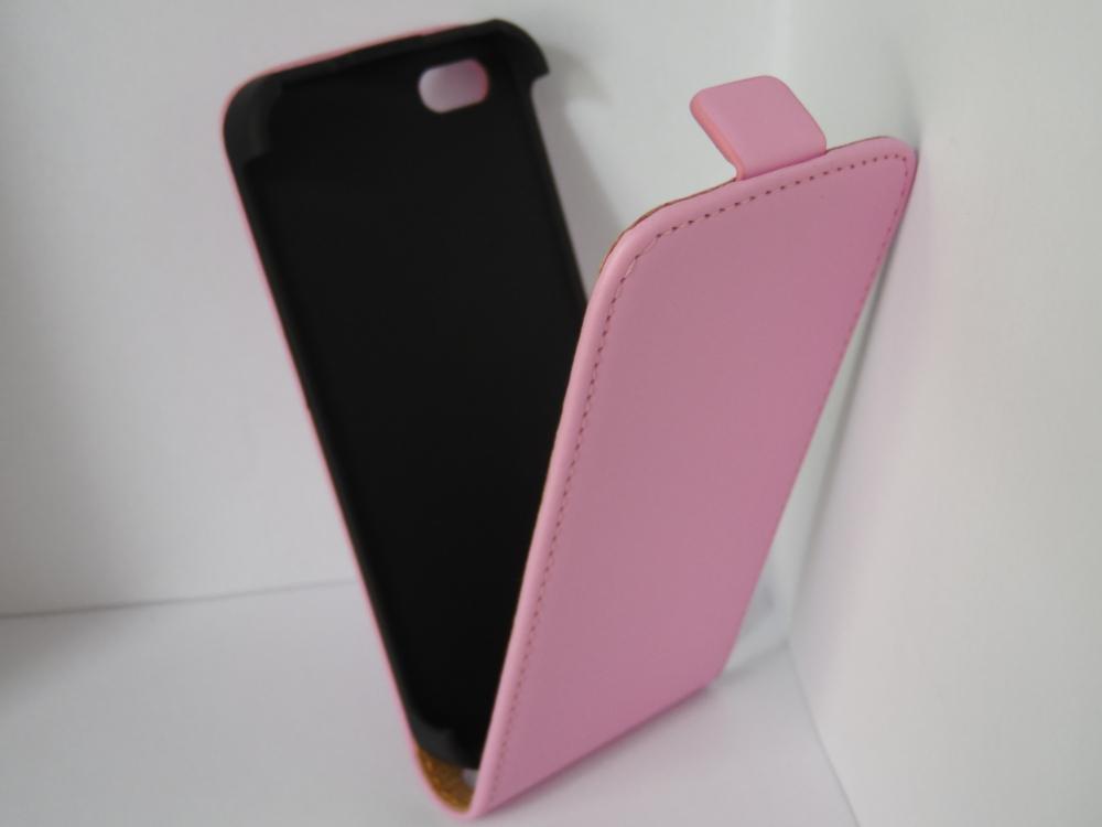 Husa Flip Sligo Elegance Roz Pentru Telefon Apple