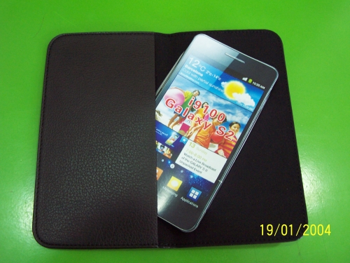Husa Samsung Neagra Din Piele Naturala Pentru Tele