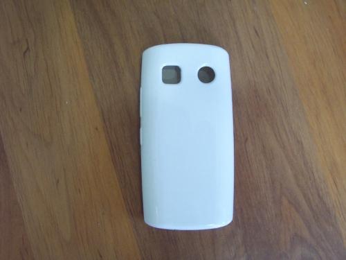 Husa Silicon Alb Lucios Pentru Telefon Nokia 500