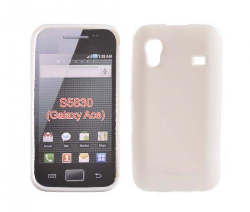 Husa Silicon Alb Lucios Pentru Telefon Samsung Galaxy Ace S5830