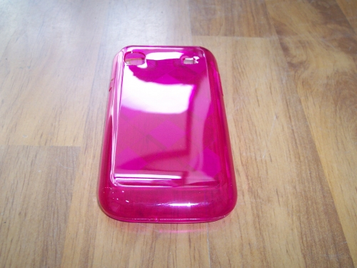 Husa Silicon Ciclamen (cu Romburi) Pentru Telefon Samsung Galaxy S I9000 / Galaxy S Plus I9001