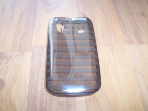 Husa Silicon Fumurie (cu Dungi Orizontale) Pentru Telefon Samsung Galaxy Ace S5830