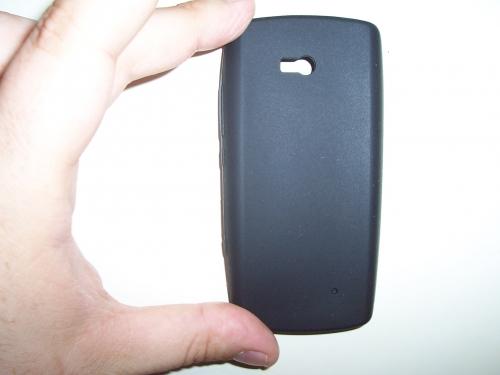 Husa Silicon Neagra Pentru Telefon Nokia 700