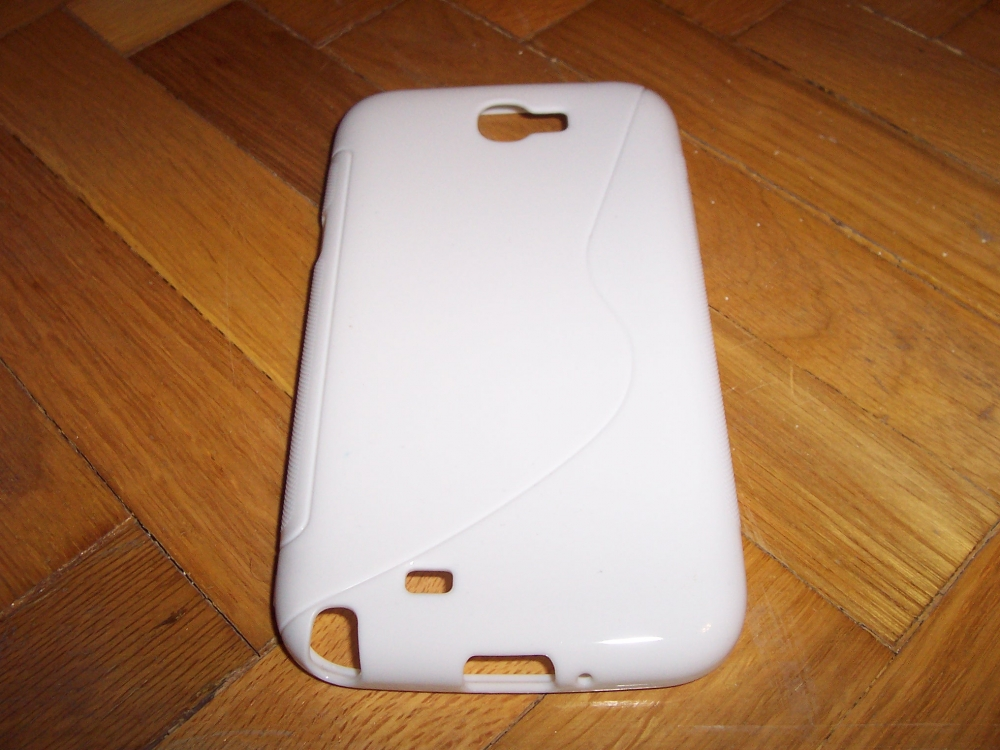 Husa Silicon S-case Alba Pentru Telefon Samsung Galaxy Note 2 N7100