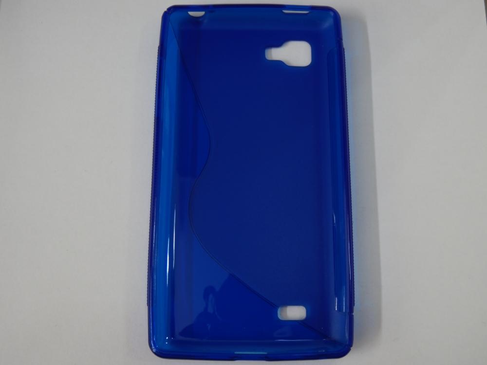 Husa Silicon S-case Albastra Pentru Telefon Lg Opt