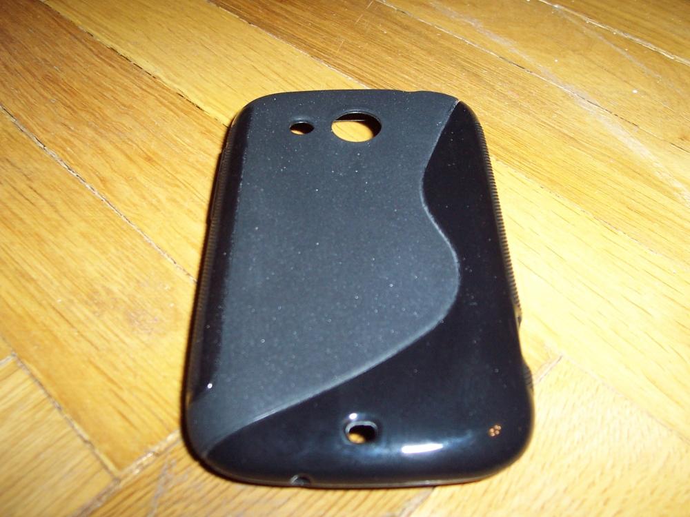 Husa Silicon S-case Neagra Pentru Telefon Htc Desi